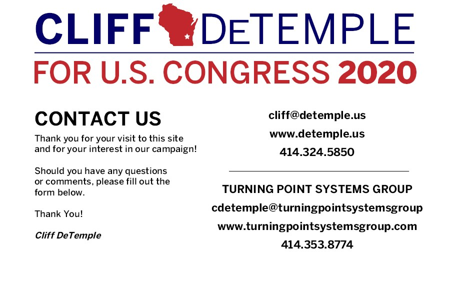 Cliff DeTemple Contact Page