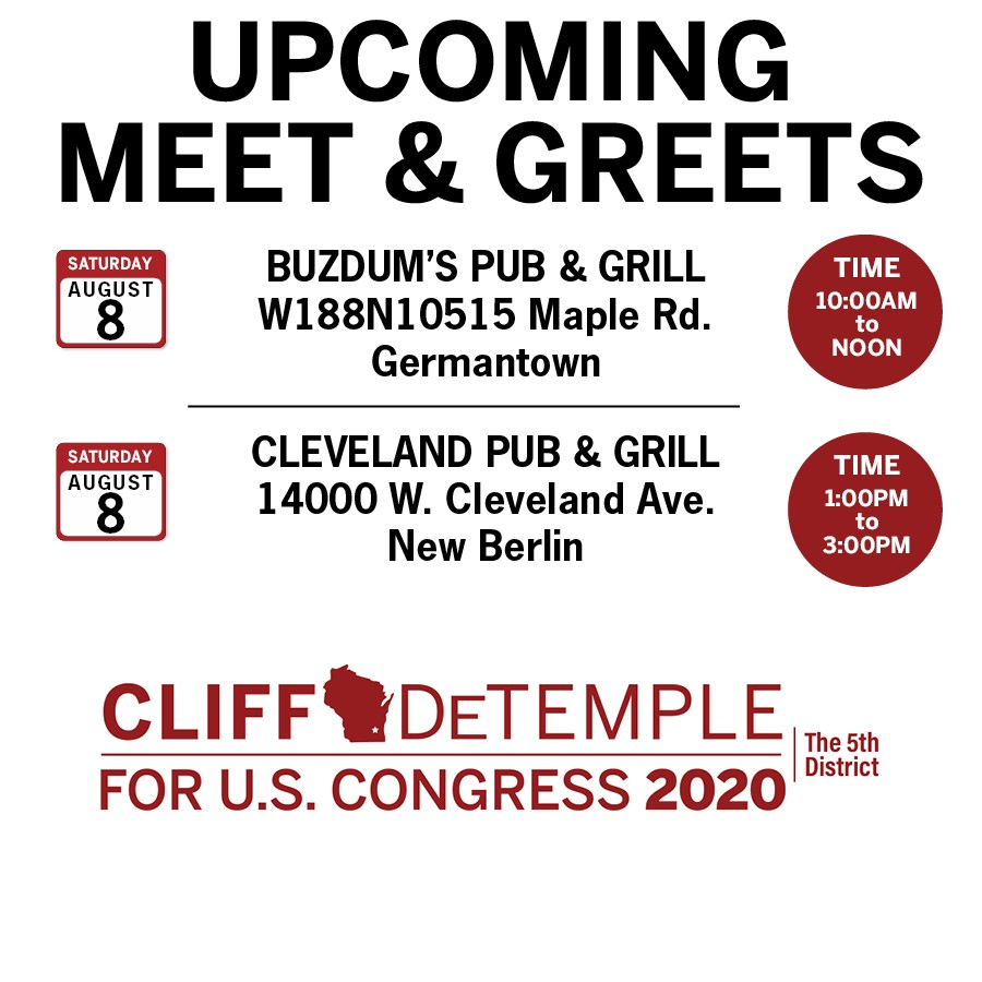 Cliff DeTemple Meet and Greet Schedule