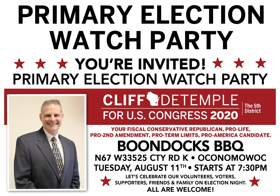 Cliff DeTemple Events Page Watch Party